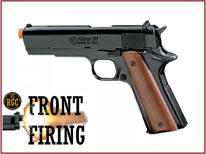 FRONT FIRE: 9mm Blank Gun: Kimar 1911 Blued