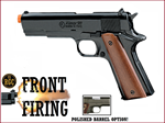 FRONT FIRE: 9mm Blank Gun: Kimar 1911 Blued w/Polished Bbl.