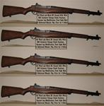 4 units of M1 Garand with mods