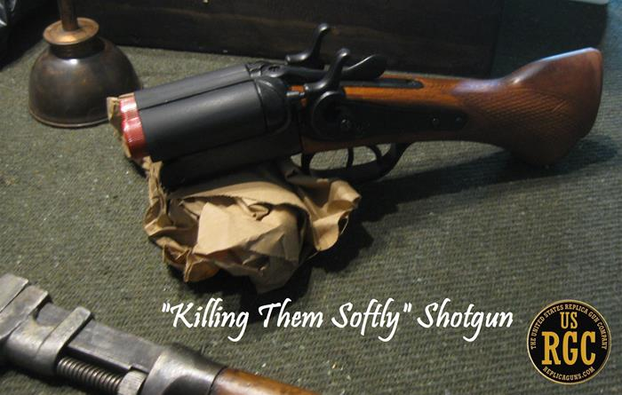 "Super Sawed Off Exposed Shell ""Killing Thm Softly"" Shotgun"