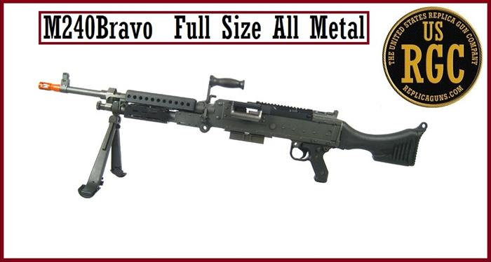Custom M240 Bravo (M240B) ALL METAL INERT Training Weapon