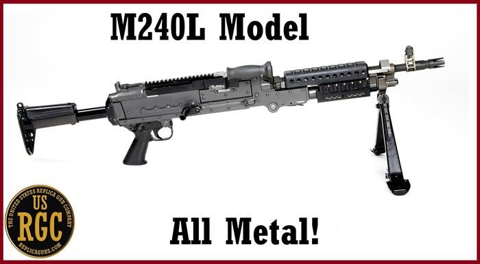 Custom M240 Lima (M240L) ALL METAL INERT WEIGHTED Training Weapon