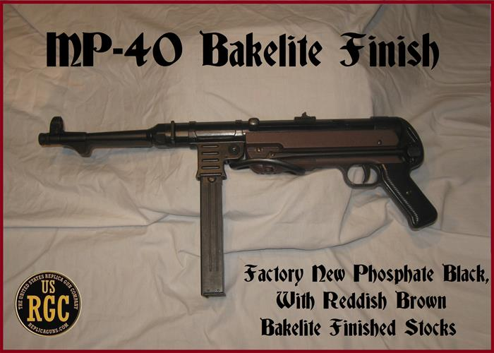 WWII Axis: German MP-40 Bakelite Finish Stock!