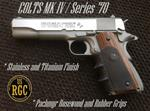 "1911 Replica Pistol: ""Slide Over"" Colt MK IV Series 70 Stainless/Titanium!"