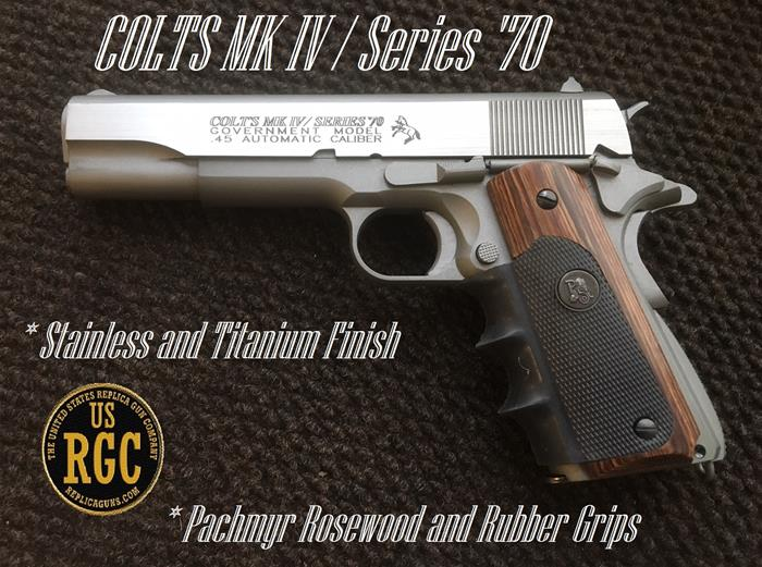 "1911 Replica Pistol: ""Slide Over"" Colt MK IV Series 70"