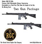 Pair of Rubber G3 Rifles