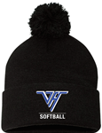 VHHS Softball 2020 - Hat w/pom pom Embroidered Logo