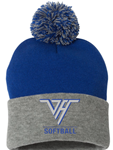 VHHS Softball 2020 - Hat w/pom pom (royal/grey) Embroidered Logo