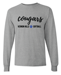 VHHS Softball 2020 - Long sleeve t-shirt Cursive Logo