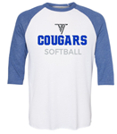 VHHS Softball 2020 - Long sleeve t-shirt (baseball style) VH Logo