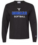 VHHS Softball 2020 - Long sleeve t-shirt (Champion garment dyed) VH Logo