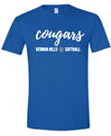 VHHS Softball 2020 - Short sleeve softstyle t-shirt Cursive logo