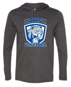 VHHS Boys Volleyball 2020 - Lightweight Hooded long sleeve tshirt