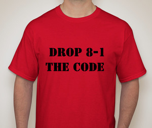Drop 8-1 The Code T-Shirt Red