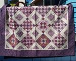 "QUILT: Spring Time 60"" x 72"" in purple"