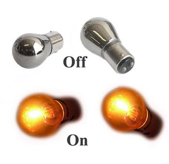 1157 Chrome Bulbs - Amber Color (Sold as a Set)