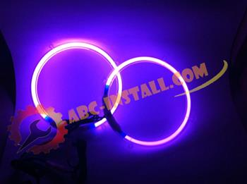 Purple Neon Speaker Rings Subwoofer Glow (Select) Sizes
