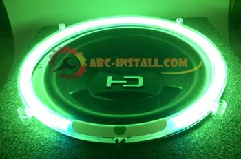 Green Neon Speaker Rings Subwoofer Glow (Select) Sizes