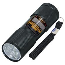 Flashlight with 9 LEDs for School Bus Driver / Mechanic Black Only