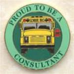 Proud To Be A School Bus Consultant Pin