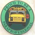Proud to be a School Bus Para Pin