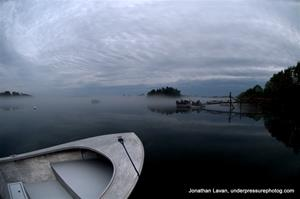 A Low Fog- Card Cove- Harpswell, ME