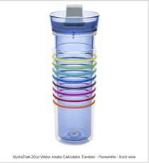 HydraTrak20oz Water Intake Calculator Tumbler with Lever Lid - Periwinkle