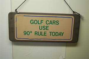 Golf Sign. 2 sided