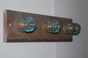 Electrical Insulator coat rack