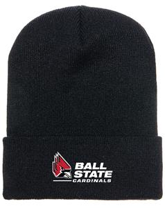 Ball State Embroidered Patch Beanie