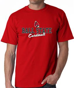 Ball State Campus Script Adult Tee