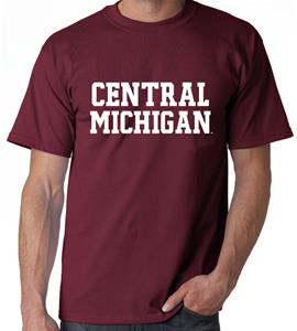 Central Michigan Block Adult Tee