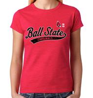 Ball State Old School Script Women's Crew neck Tee