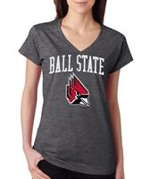 Ball State Jumbo Bleach Women's V-neck Tee
