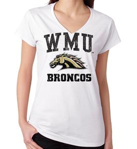 Western Michigan Jumbo Bleach Women's Tee