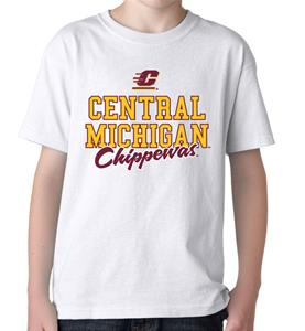 Central Michigan Campus Script Youth Tee