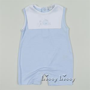 Kissy Kissy Whales Sunsuit Blue