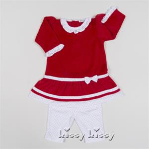 Kissy Kissy Merry and Bright Velour Dress with Legging