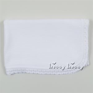 Kissy Kissy Baby Bliss Knit Blanket With Ruffle