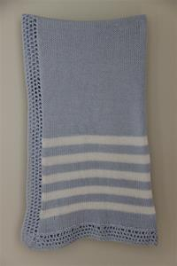 Gita Accessories Blue And White Stripe Blanket