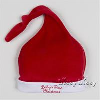 Kissy Kissy Baby's First Christmas Velour Hat