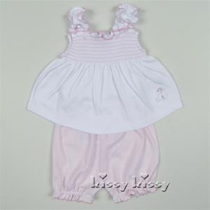 Kissy Kissy Whales Sunsuit Pink