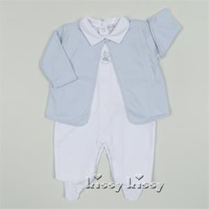 Kissy Kissy Sweet Dreams Footie With Jacket Lt. Blue