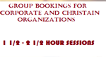 CORPORATE LEADERSHIP, BUSINESS INDIVIDUAL AND GROUP SESSIONS 1,2 & 3 HOURS