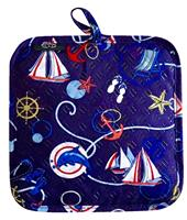 Nautical Circles Silli Hottie (Silicone Pot Holder/Hot Pad)