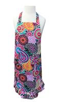 Paisley Medallion Girls' Ruffle Apron (girls' size large)