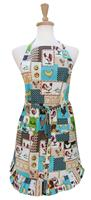 Country Rooster Ruffle Apron