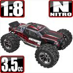 Earthquake 3.5 Nitro 1/8 Scale 4x4 Monster Truck- Red
