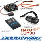 Hobbywing Max8 150a ESC and 2200KV Combo w/Deans