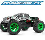 BF** Maverick Quantum MT Flux 1/10 4WD Monster Truck - Silver (Lipo Bundle)
